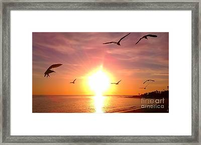Framed Print featuring the photograph Malibu Paradise by Chris Tarpening