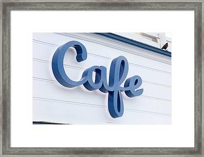 Malibu Pier Cafe Framed Print