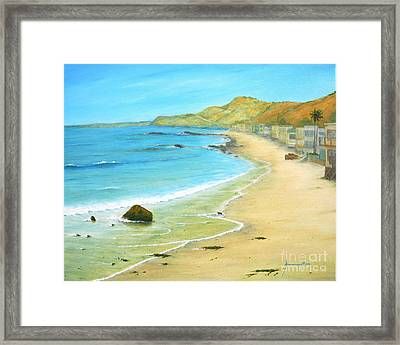 Malibu Road Framed Print by Jerome Stumphauzer