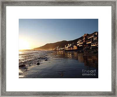 Malibu Topanga Sunset Framed Print by Trekkerimages Photography