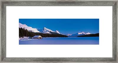 Maligne Lake & Canadian Rockies Alberta Framed Print by Panoramic Images