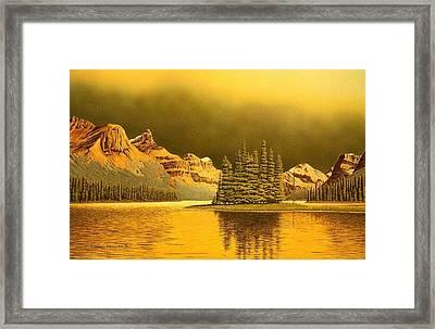 Maligne Lake Framed Print by Conrad Mieschke