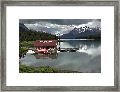 Maligne Lake Jasper Park Framed Print