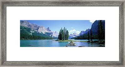 Maligne Lake Near Jasper, Alberta Framed Print