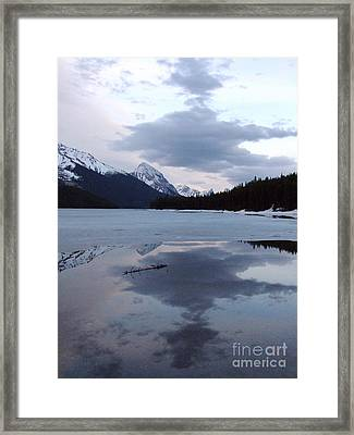 Maligne Lake - Reflections Framed Print by Phil Banks