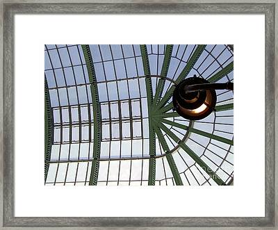 Framed Print featuring the photograph Mall Of Emirates Skylight by Andrea Anderegg