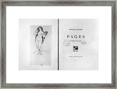 Mallarm� Pages, 1891 Framed Print by Granger