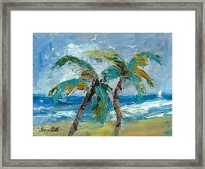 Mallibu Palms Framed Print