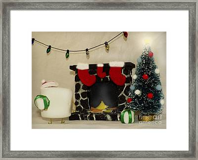 Mallow Christmas Framed Print by Heather Applegate