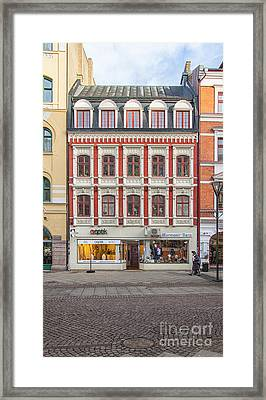 Malmo Shops Framed Print by Antony McAulay