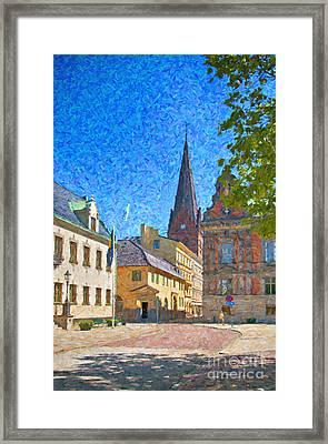 Malmo Stortorget Painting Framed Print by Antony McAulay