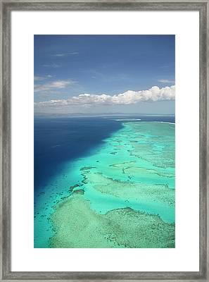 Malolo Barrier Reef Off Malolo Island Framed Print by David Wall