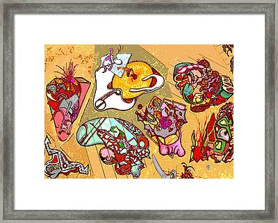 Framed Print featuring the drawing Malpractice by Doug Petersen