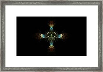 Maltese Cross Framed Print by Jeanne LeMieux