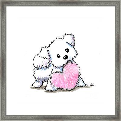 Maltese Heart N Soul Puppy Framed Print