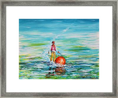 Strolling On The Water Framed Print