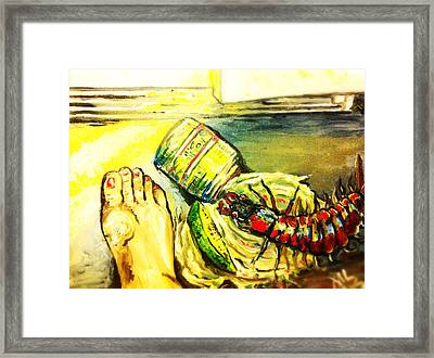 Mama Found Your Clipper Framed Print by Alexandria Weaselwise Busen