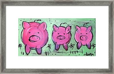 Mama Pig Framed Print by Sladjana Lazarevic