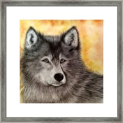 Mama Wolf Framed Print