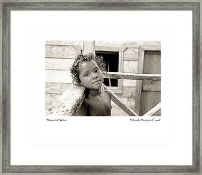 Framed Print featuring the photograph Mamacita Wilson by Tina Manley