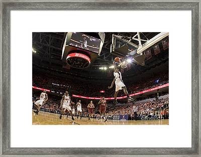 Mamadi Diane Dunk Against Boston College Framed Print by Jason O Watson
