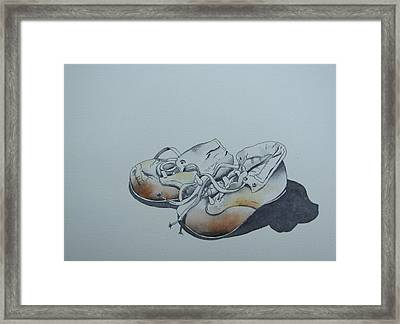 Mama's First Shoes-cira1930 Framed Print