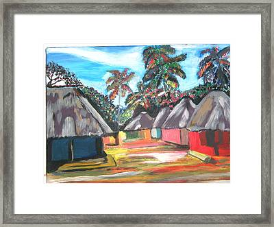 Mamboima The Tamarinds Village Framed Print by Mudiama Kammoh