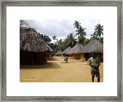Framed Print featuring the photograph Mamboima Village by Mudiama Kammoh