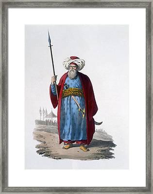Mameluke Officer, 1818 Framed Print
