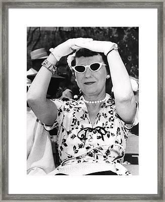 Mamie Eisenhower At West Point Framed Print