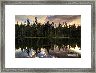 Mamie Lake Reflections Framed Print