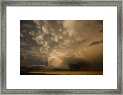 Mammatus Clouds Over Fields Framed Print by Roger Hill/science Photo Library