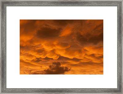 Mammatus Clouds Framed Print by Paul Rebmann
