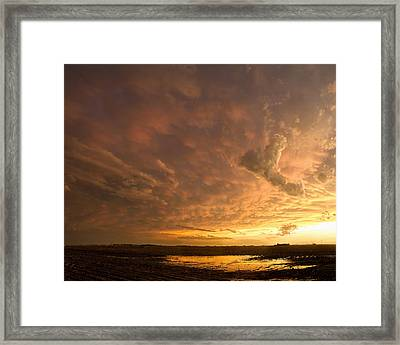 Framed Print featuring the photograph Mammatus Clouds by Rob Graham