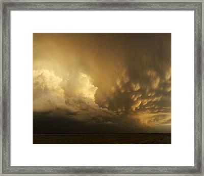Mammatus Falling Framed Print