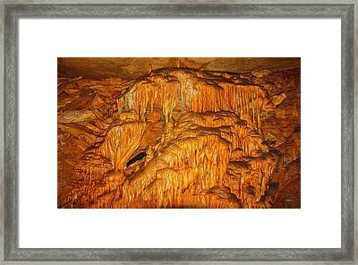 Mammoth Cave Formations Framed Print