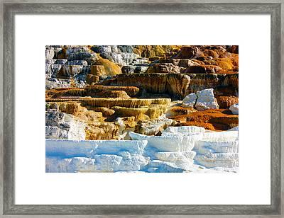 Mammoth Hot Springs Rock Formation No1 Framed Print
