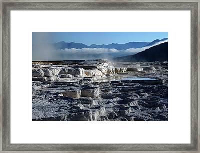 Mammoth Hot Springs, Yellowstone Framed Print by Michel Hersen