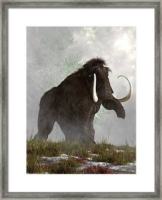 Mammoth In The Fog Framed Print