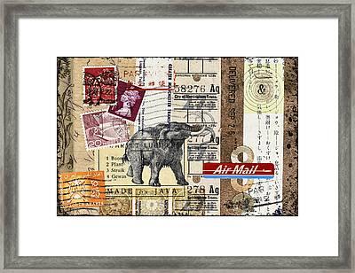 Mammoth Mail Framed Print by Carol Leigh