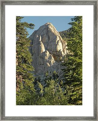Mammoth Rock Framed Print by Peter Hennessey