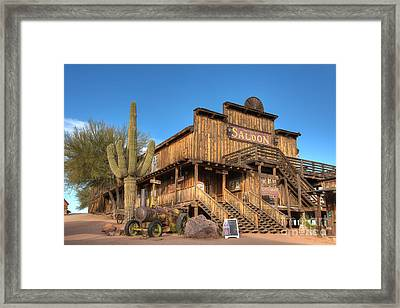 Mammoth Saloon Framed Print by Eddie Yerkish