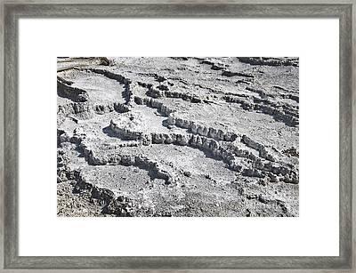 Mammoth Terraces Detail Framed Print