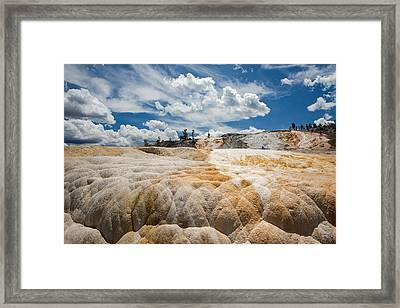 Mammouth Terraces Framed Print