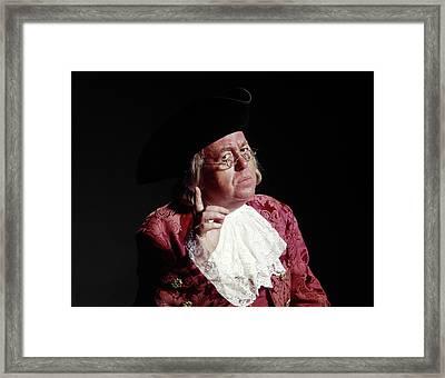 Man 18th Century Colonial Costume Ben Framed Print