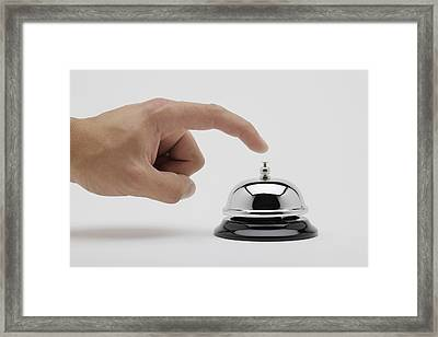 Man About To Ring A Bell Framed Print by Kelly Redinger