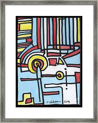 Man And His Car Framed Print by Cathy Peterson