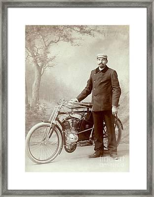 Man And His Ride Framed Print by Jon Neidert