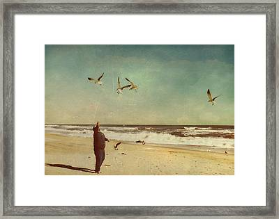 Man And Nature Framed Print by Kathy Jennings