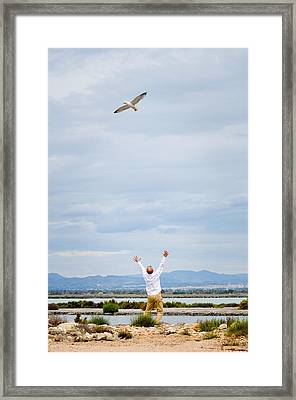 Man And Nature Framed Print by Tetyana Kokhanets